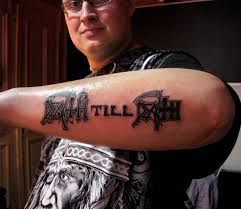death till death heavy metal tattoo