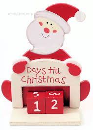 christmas countdown calendar days til until christmas advent wooden santa