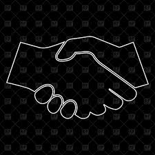 color white business handshake white color path icon royalty free vector clip
