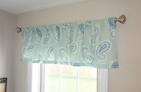 curtain valance topper window treatment 52x15 canal navy blue