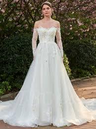 beading wedding dresses beading 3d floral appliques shoulder wedding dress with