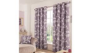 Asda Nursery Curtains Thistle Eden Floral Eyelet Curtains W 66 X D 54 Inch Home