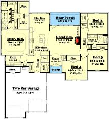 split bedroom floor plans attractive 4 bedroom split bedroom house plan 11774hz