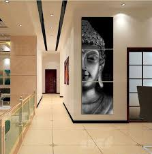 Buddha Room Decor 3 Panel Wall Modern Buddha Print Painting Picture On Canvas