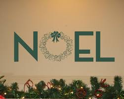 noel wreath wall decal trading phrases