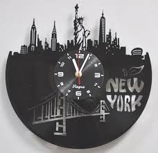 new york vinyl record clock unique wall clock statue of