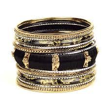 black gold bangle bracelet images Mina bangle set shop amrita singh jewelry