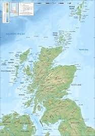 Topographic Map Of The World by Geography Of Scotland Wikipedia