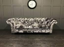Red Velvet Chesterfield Sofa by The London Fabric Chesterfield Sofa In Crushed Velvet