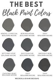 what is the best benjamin paint for kitchen cabinets the best black paint colors micheala diane designs