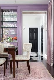 Dining Room In Shades Of Purple Contemporary Dining Room - Purple dining room