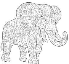 elephant mandala coloring page mandalas print