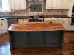 kitchen with butcher block island modern butcher block island top in custom hickory wood species hick