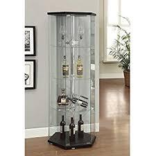 All Glass Display Cabinets Home Amazon Com Ikea Home Indoor Glass Door Cabinet Black Brown