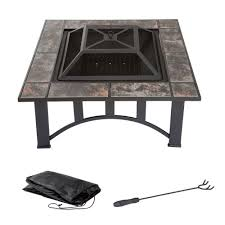 Metal Firepit Square Metal Pit Cover Steel Snuffer Custom Covers