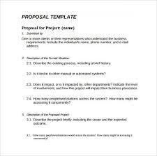 simple project proposal template procedure template sample