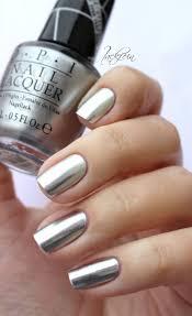 opi push and shove silver fingernail polish opi nail manicure