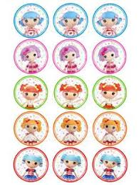 lalaloopsy cake topper lalaloopsy inspired cupcake topper cookie topper edible image