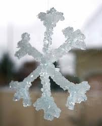 how to make snowflake ornaments with borax craft