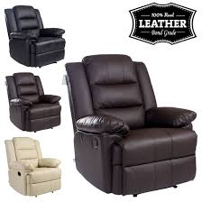 real leather swivel recliner chairs loxley leather recliner armchair sofa home lounge chair reclining