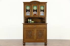 Corner Curio Cabinet Kit Oak Hutch With Glass Doors Fleshroxon Decoration