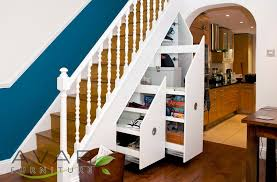 decorations attractive under stairs shelves ideas showing white