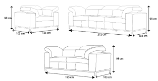 dimension d un canapé dimensions canape 2 places maison design hosnya com