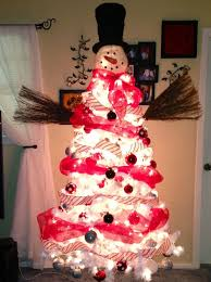 snowman christmas tree diy white christmas tree snowman diy craft projects