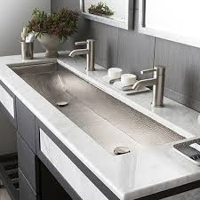 native trails trough sink modern rectangular trough bathroom sinks native trails