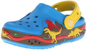 crocs light up boots crocs boys crocslights dinosaur clog light up shoes