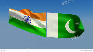 Pakistans Flag Loopable India And Pakistan Flags Alpha Channel Is Included Stock