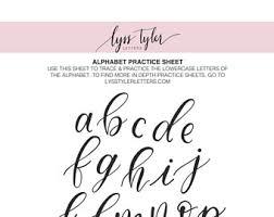 lettering guide etsy