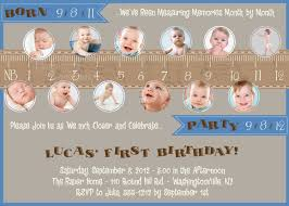Birthday Invitation Cards For Kids First Birthday Measure A Year One Year In A Flash First Birthday Party Event