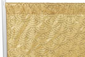 gold backdrop mermaid scale 8ft h x 52 w drape backdrop panel gold cv linens