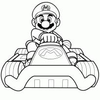 free printable mario kart coloring pages cartoon print bowser