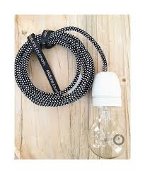 douille en bois baladeuse cable textile noir effet 3d et douille porcelaine jpg