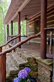 cabin porch north georgia log cabin front porch and steps