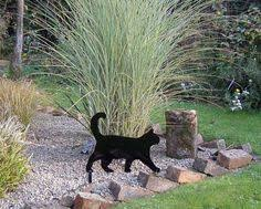 black cat fence topper silhouette made metal garden ornament