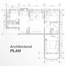 Floor Plan Icons by Architectural Set Of Furniture On Apartment Plan With Sizes