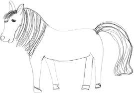 horse pictures to draw for kids