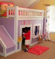 Princess Castle Bunk Bed Princess Loft Bed With Slide Vnproweb Decoration