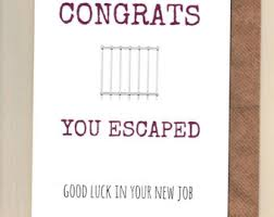 Congrats On New Job Card Good Luck Cards Etsy