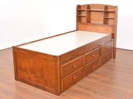 Buy Rubber Wood Furniture Bangalore Ateneo Solid Storage Single Bed With Trundle By Urban Ladder Buy