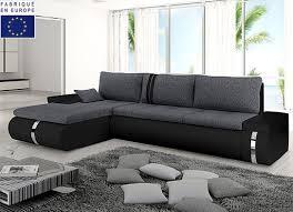 canapé d angle noir et gris canapé d angle convertible design cosi noir gris