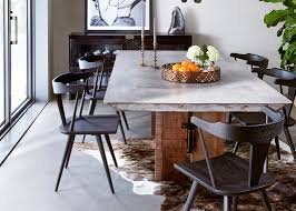 Concrete Dining Room Table Natural Sealers And Wax Concrete Oak Dining Table