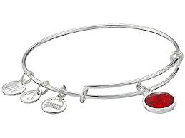 birthstone charm bracelet for alex and ani january birthstone charm bangle at zappos