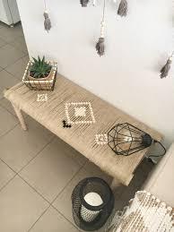 accessoire salle de bain orientale banc déco tissé à la main d u0027inspiration ethnic oriental