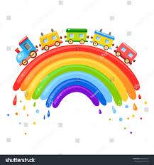 bright vector baby cartoon train on stock vector 458449954