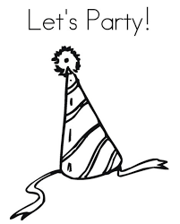 lets party free birthday coloring pages birthday coloring pages