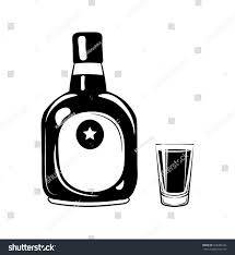 drink vector rum bottle glass alcohol drink vector stock vector 526304242